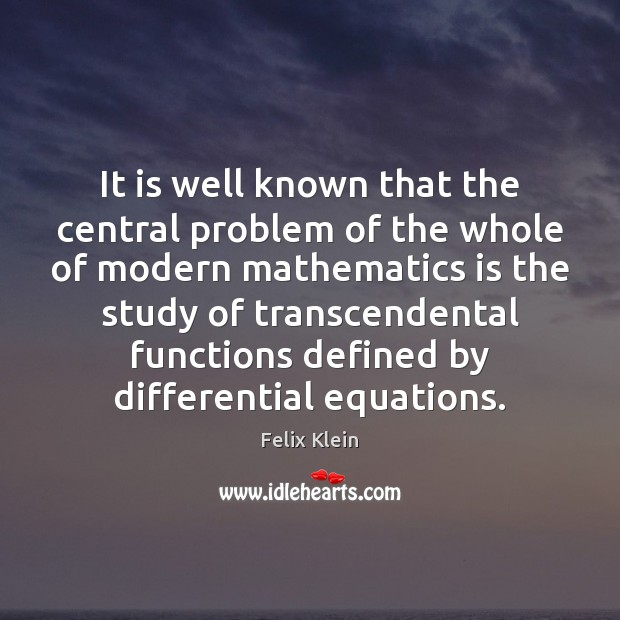 It is well known that the central problem of the whole of Image