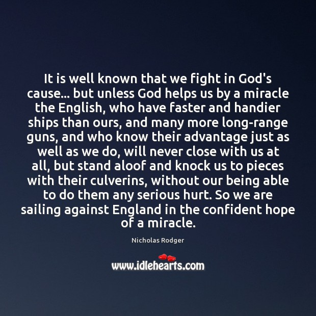 Image, It is well known that we fight in God's cause… but unless