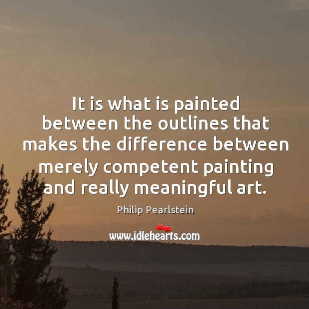 It is what is painted between the outlines that makes the difference Image