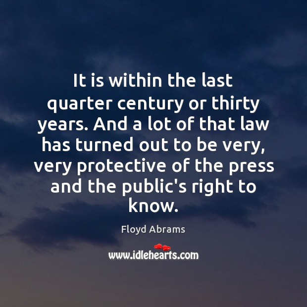 Picture Quote by Floyd Abrams