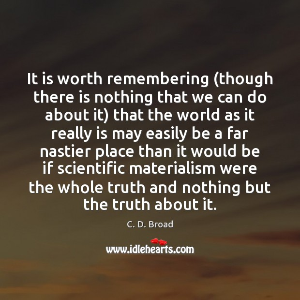 It is worth remembering (though there is nothing that we can do Image