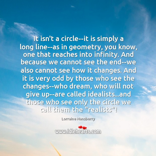 It isn't a circle–it is simply a long line–as in geometry, you Image