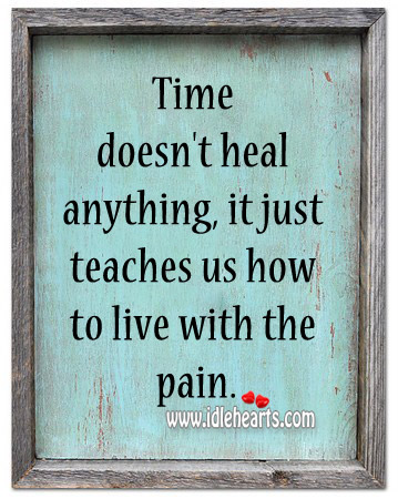 Time Doesn't Heal Anything, It Just Teaches Us How To Live With The Pain.