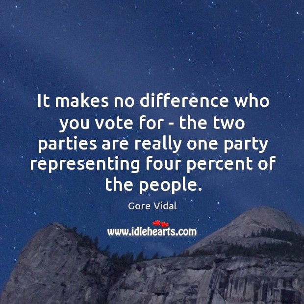 It makes no difference who you vote for – the two parties Image