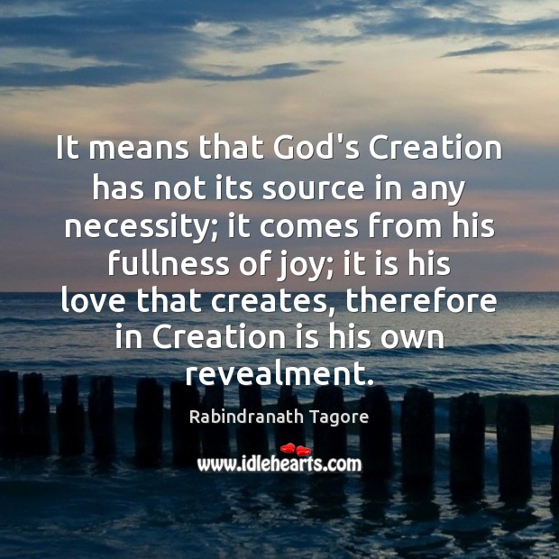 Image, It means that God's Creation has not its source in any necessity;