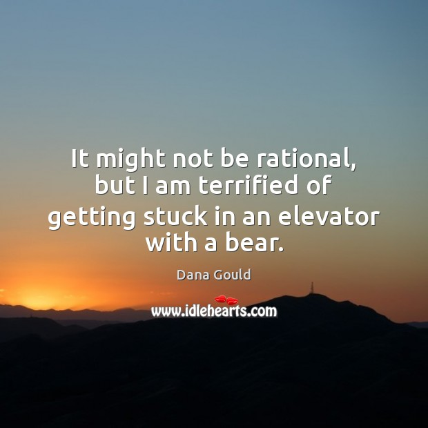 It might not be rational, but I am terrified of getting stuck in an elevator with a bear. Dana Gould Picture Quote