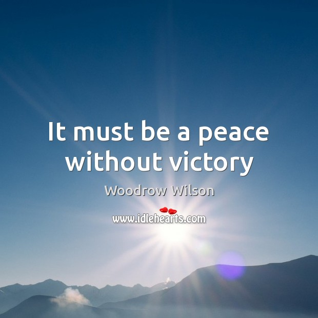 Image, It must be a peace without victory
