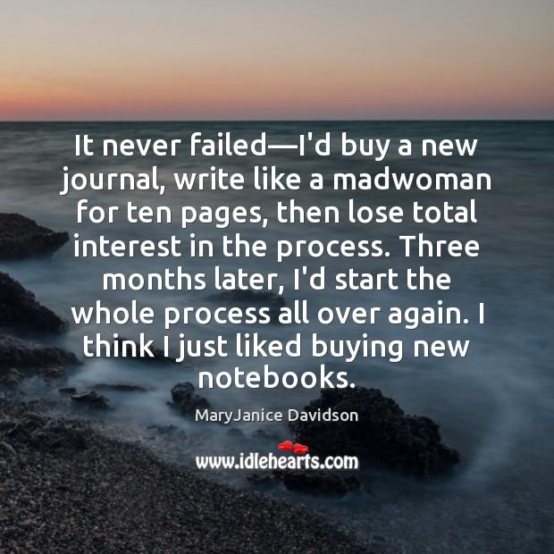Image, It never failed—I'd buy a new journal, write like a madwoman