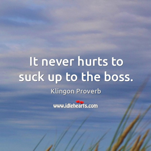 Suck Up To Boss 30