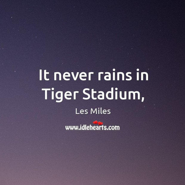 Image, It never rains in Tiger Stadium,