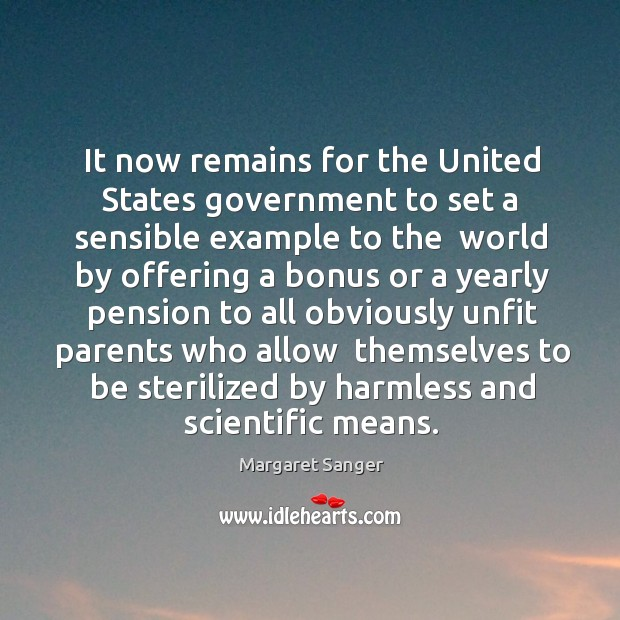 Image, It now remains for the United States government to set a sensible