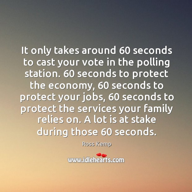 Image, It only takes around 60 seconds to cast your vote in the polling