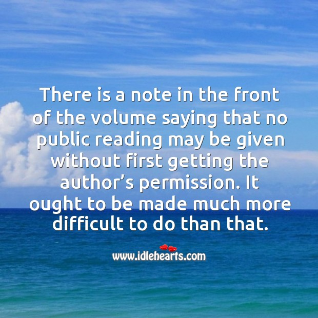 It ought to be made much more difficult to do than that. Image