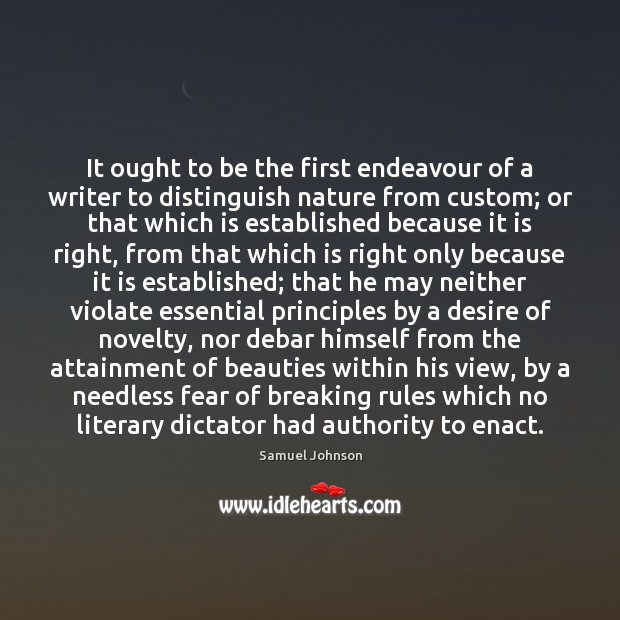 Image, It ought to be the first endeavour of a writer to distinguish