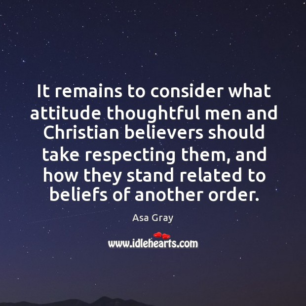Image, It remains to consider what attitude thoughtful men and christian believers should