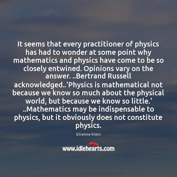 Image, It seems that every practitioner of physics has had to wonder at