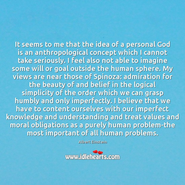 Image, It seems to me that the idea of a personal God is