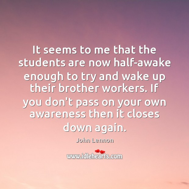 Image, It seems to me that the students are now half-awake enough to