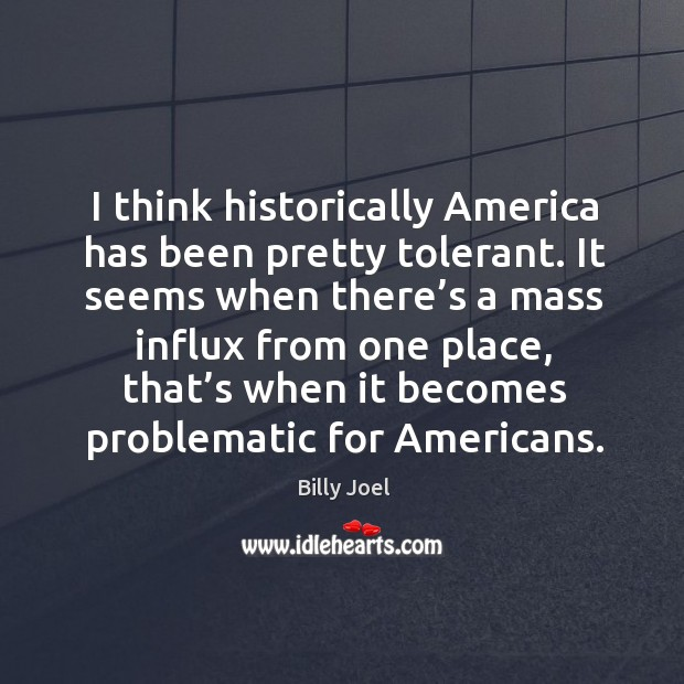 It seems when there's a mass influx from one place, that's when it becomes problematic for americans. Image