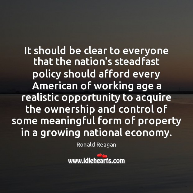 It should be clear to everyone that the nation's steadfast policy should Image