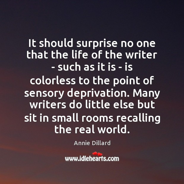 It should surprise no one that the life of the writer – Image