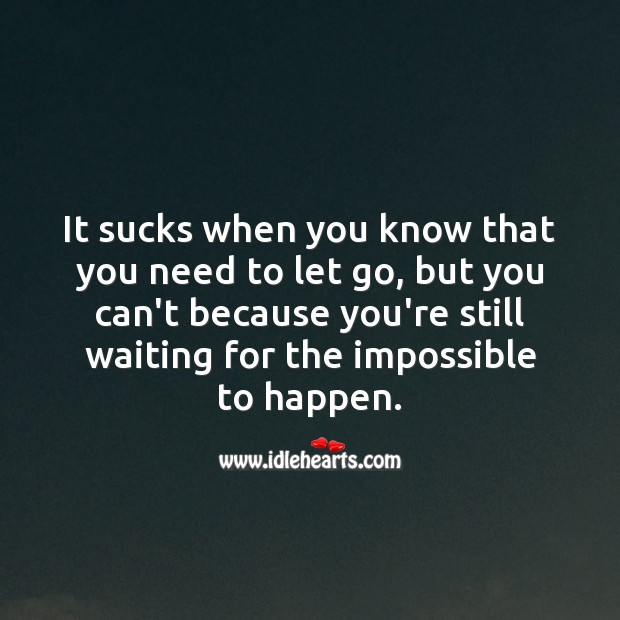 It sucks when you know that you need to let go Let Go Quotes Image