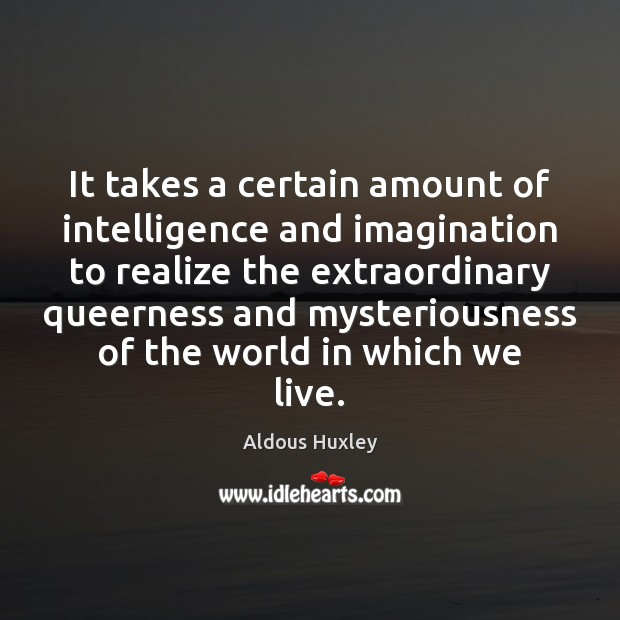 Image, It takes a certain amount of intelligence and imagination to realize the