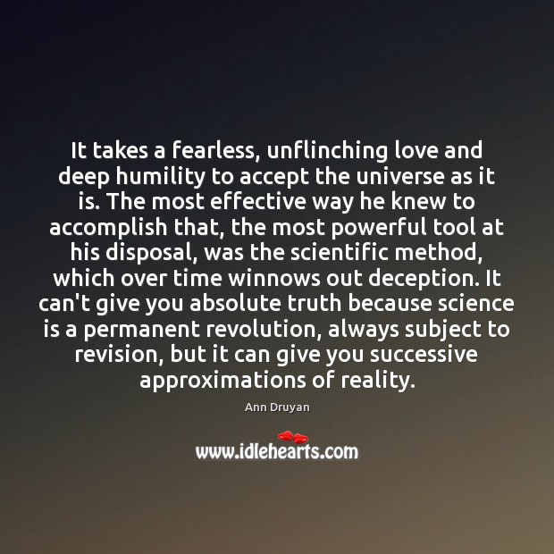 Image, It takes a fearless, unflinching love and deep humility to accept the