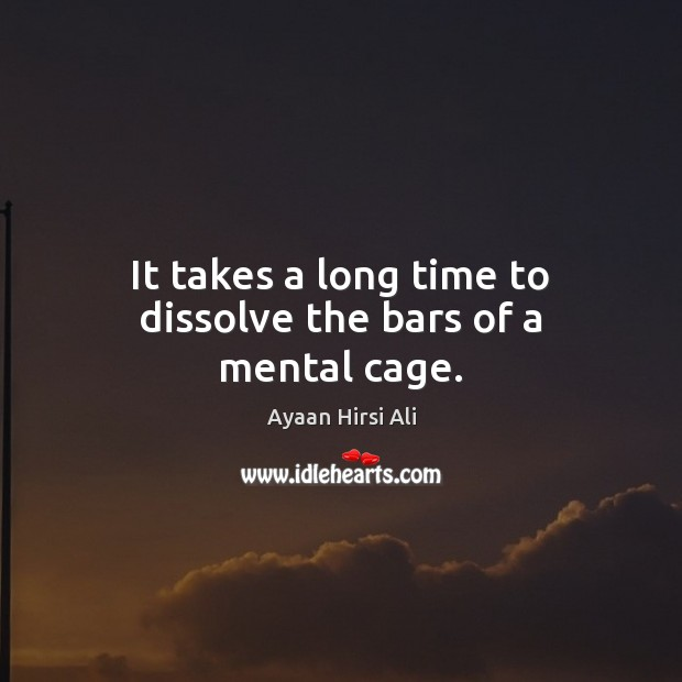 It takes a long time to dissolve the bars of a mental cage. Image