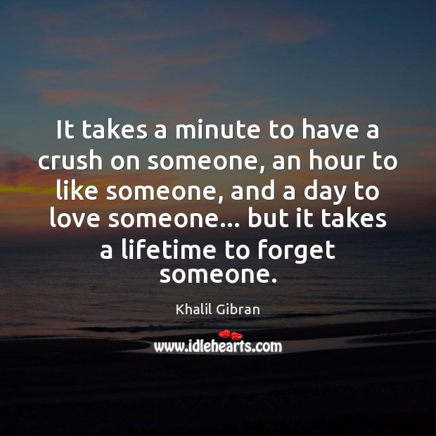 It takes a minute to have a crush on someone, an hour Image