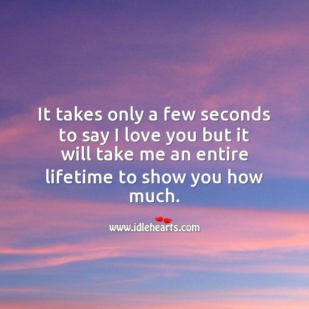 It takes only a few seconds to say I love you I Love You Quotes Image