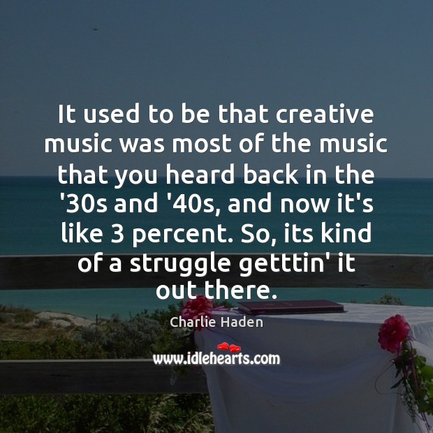 Picture Quote by Charlie Haden