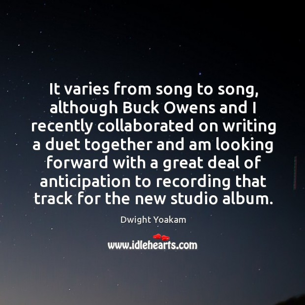 It varies from song to song, although buck owens Image