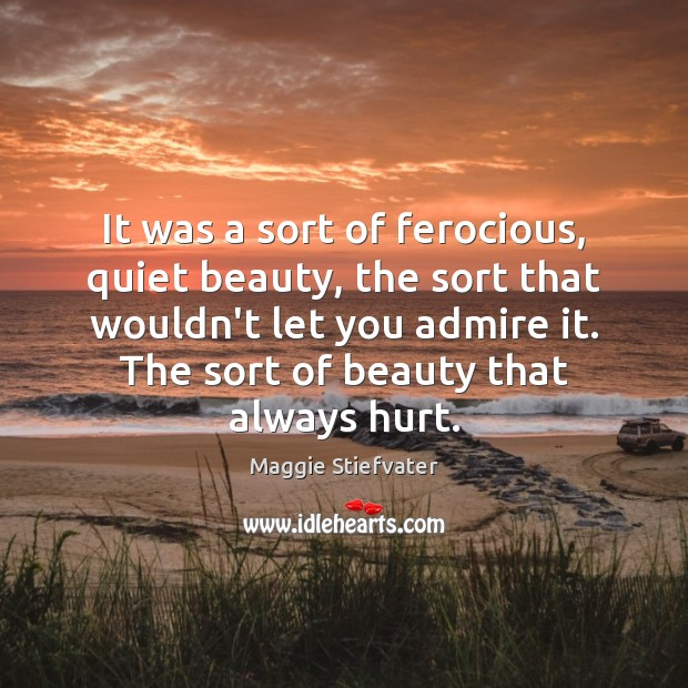 It was a sort of ferocious, quiet beauty, the sort that wouldn't Maggie Stiefvater Picture Quote