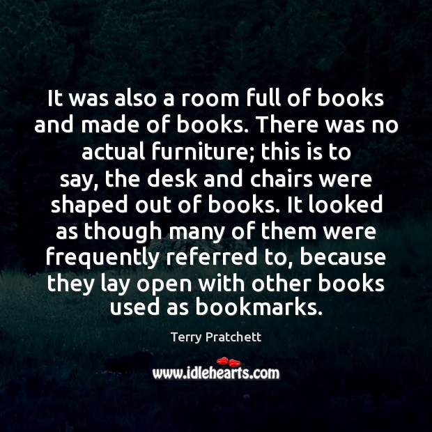 It was also a room full of books and made of books. Image