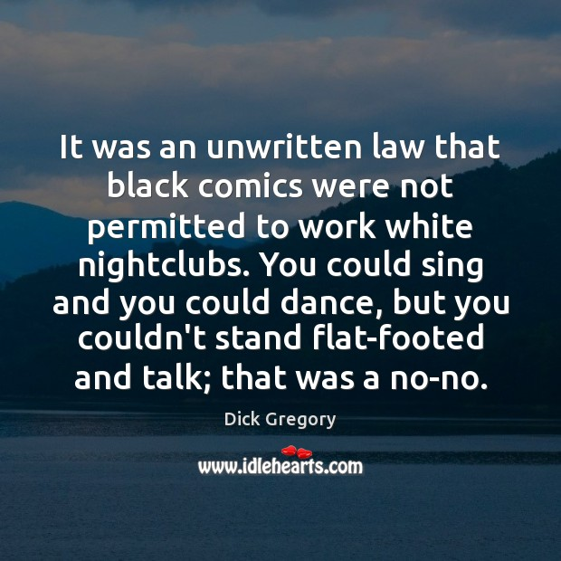 It was an unwritten law that black comics were not permitted to Image
