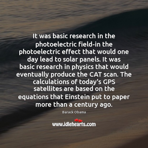 Image, It was basic research in the photoelectric field-in the photoelectric effect that