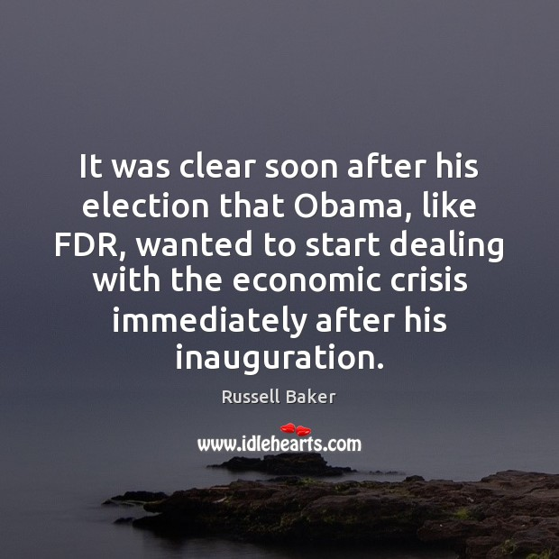 Image, It was clear soon after his election that Obama, like FDR, wanted