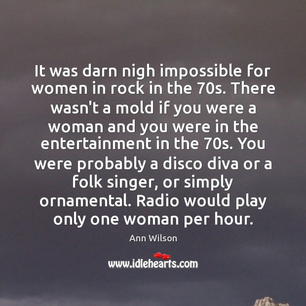 Image, It was darn nigh impossible for women in rock in the 70s.