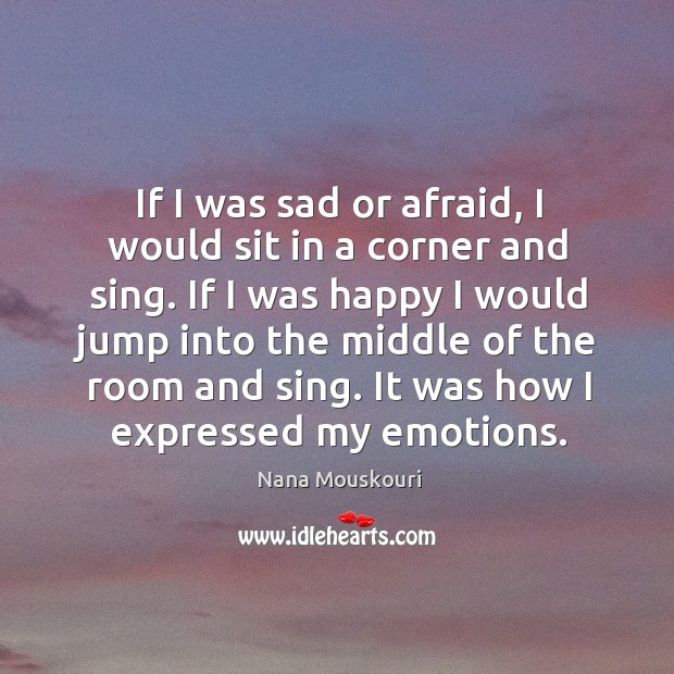 It was how I expressed my emotions. Image
