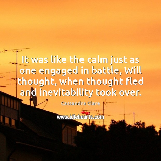 Image, It was like the calm just as one engaged in battle, Will