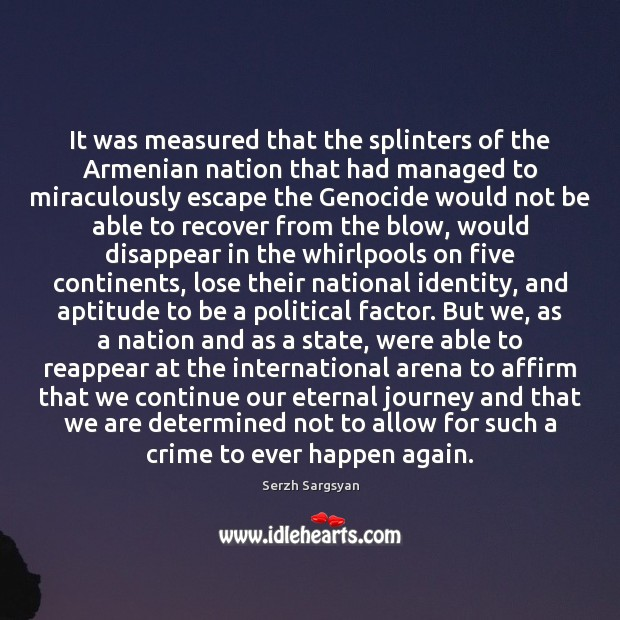 Image, It was measured that the splinters of the Armenian nation that had
