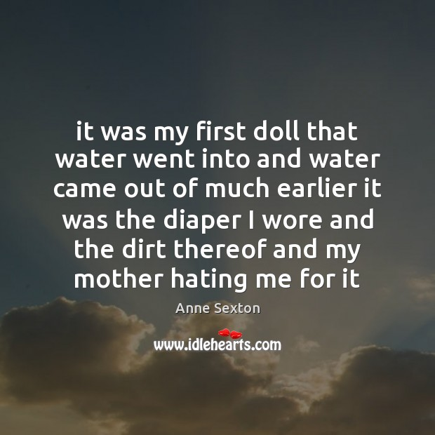 It was my first doll that water went into and water came Image