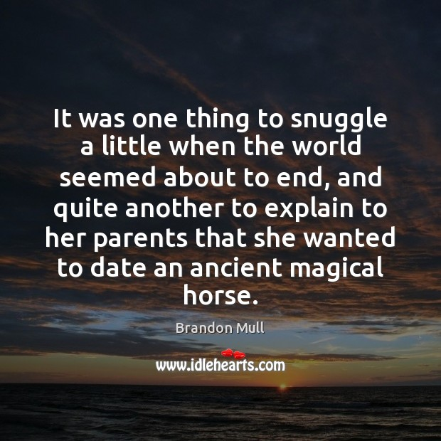 Image, It was one thing to snuggle a little when the world seemed