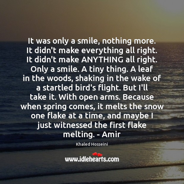 Image, It was only a smile, nothing more. It didn't make everything all