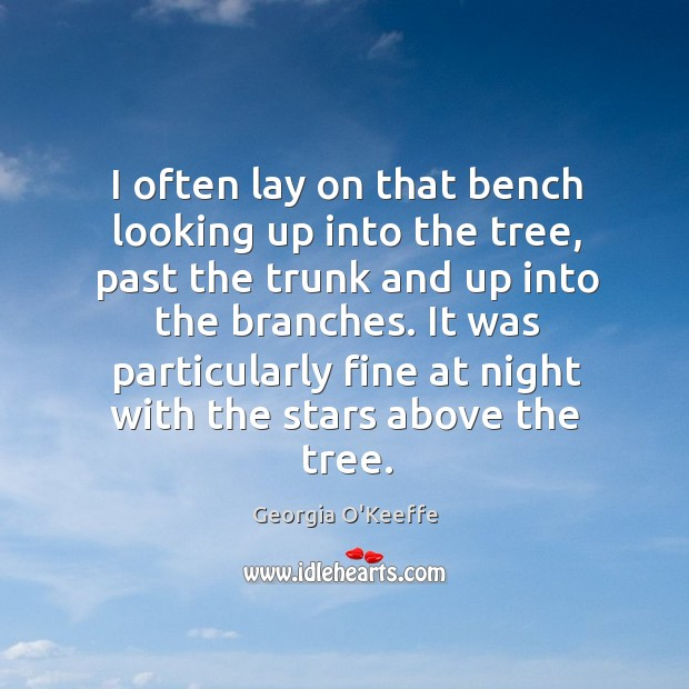 It was particularly fine at night with the stars above the tree. Image
