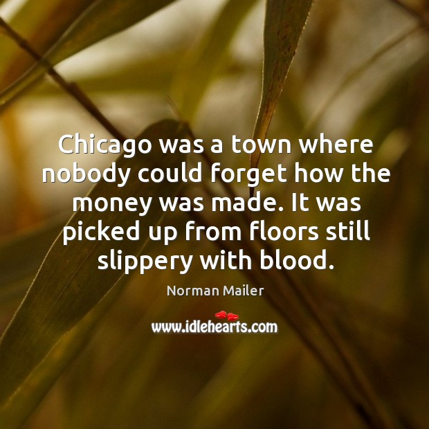 It was picked up from floors still slippery with blood. Image