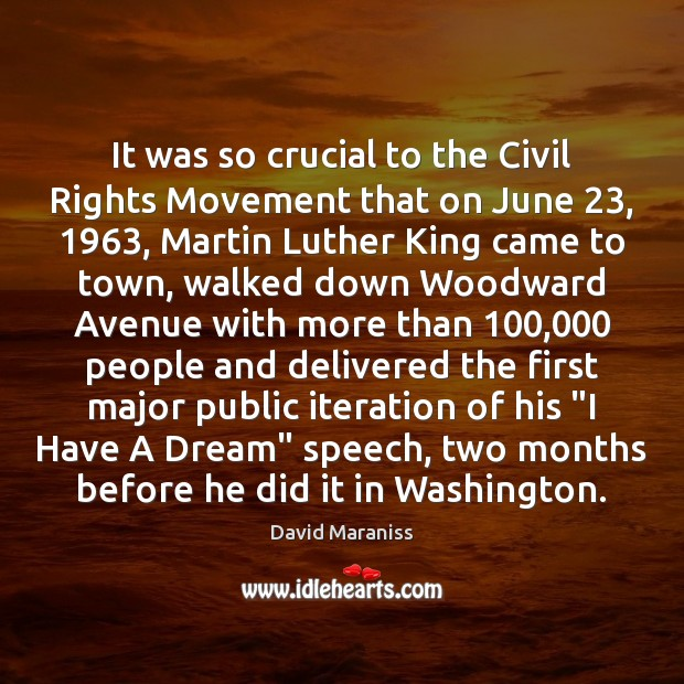 It was so crucial to the Civil Rights Movement that on June 23, 1963, Image
