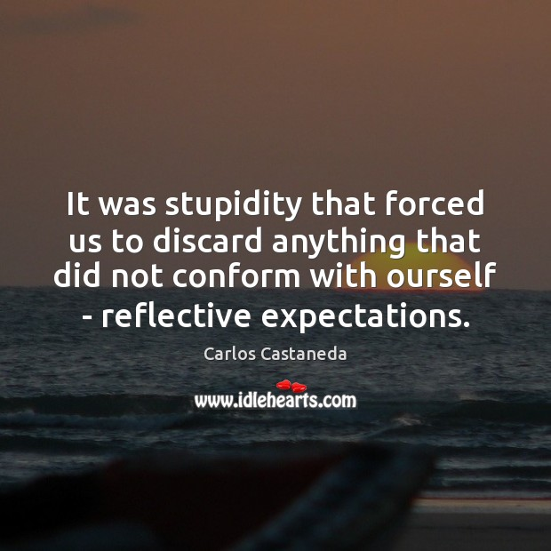 It was stupidity that forced us to discard anything that did not Image