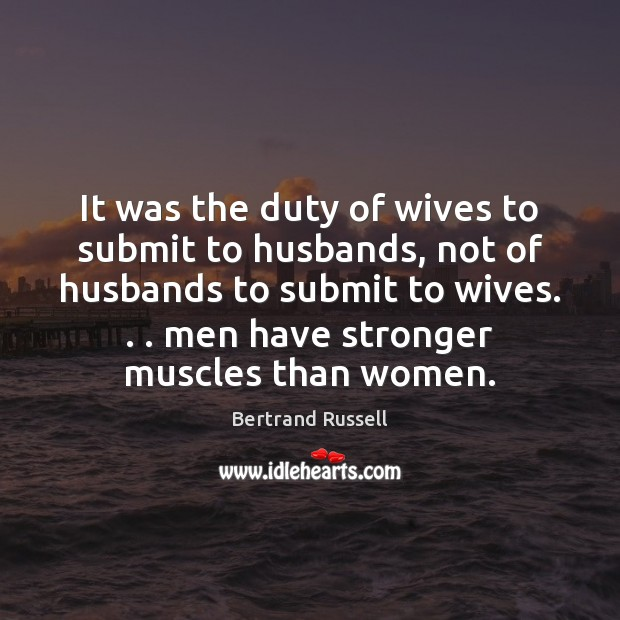 Image, It was the duty of wives to submit to husbands, not of